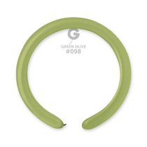Gemar Standard Olive 260 Latex Modelling Balloons 50pk