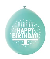 Assorted Colour Happy Birthday Latex Balloons 10pk