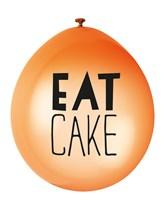 Neon Assortment Eat Cake Latex Balloons 10pk