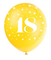 Pearlised Assorted Colour 18th Birthday Latex Balloons 5pk