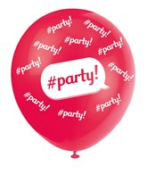 """Pearl Red 12"""" Party Latex Balloons 5pk"""