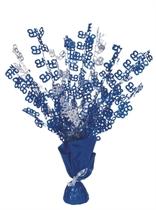 """Blue Birthday Glitz Age 65 Foil Balloon Weight Centrepiece 16.5"""""""