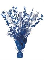 """Blue Birthday Glitz Age 80 Foil Balloon Weight Centrepiece 16.5"""""""