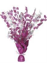 """Birthday Glitz Age 80 Foil Balloon Weight Centrepiece 16.5"""" - Pink"""