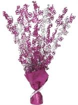 """Birthday Glitz Age 90 Foil Balloon Weight Centrepiece 16.5"""" - Pink"""
