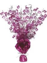 """Birthday Glitz Age 100 Foil Balloon Weight Centrepiece 16.5"""" - Pink"""