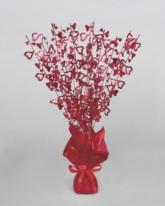 Red Hearts Foil Spray Balloon Weight Centrepiece