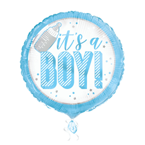 "It's a Boy Blue 18"" Foil Balloon"