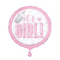 "It's A Girl Pink 18"" Foil Balloon"