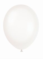 "12"" Transparent Crystal Latex Balloons - 50pk"