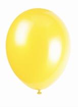 """12"""" Canary Yellow Latex Balloons - 50pk"""