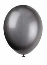 "12"" Phantom Black Latex Balloons - 50pk"