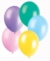 """12"""" Assorted Pastel Colour Latex Balloons - 50pk"""