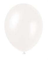 "12"" Iridescent White Pearlized Latex Balloons - 50pk"