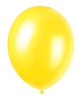 "12"" Cajun Yellow Pearlized Latex Balloons - 50pk"