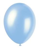 "12"" Sky Blue Pearlized Latex Balloons - 50pk"