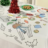 Christmas Colour In Paper Tablecover 91cm x 120cm