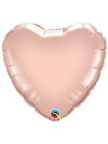 "Rose Gold 18"" Heart Foil Balloon Unpackaged"