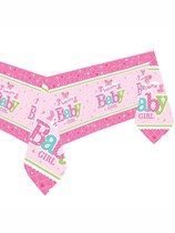 Welcome Baby Girl Plastic Tablecover