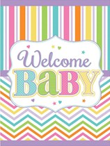 Baby Brights Welcome Baby Plastic Tablecover