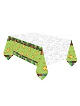 TNT Party Pixel Minecraft Plastic Tablecover