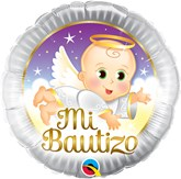 "Mi Bautizo Angel Baby 18"" Foil Balloon"