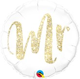 "Gold Glitter Mr 18"" Foil Balloon"