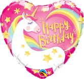 "Happy Birthday Magical Unicorn 18"" Heart Foil Balloon"