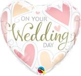 "Wedding Day Hearts 18"" Foil Balloon"