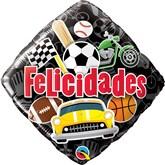 """Felicidades Square 18"""" Foil Balloon"""
