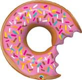 """Bitten Donut With Sprinkles 36"""" Foil Balloon"""