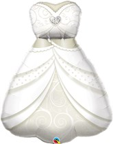"Bride's Wedding Dress 38"" Foil Balloon"