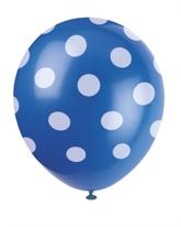 6 Decorative Dots Navy Blue Latex Balloons