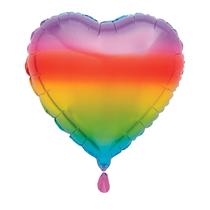 "Rainbow Heart 18"" Foil Balloon"