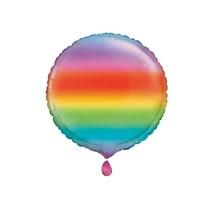 """Rainbow 18"""" Round Foil Balloon"""