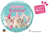 "Happy Birthday Puppies 18"" Foil Balloon"