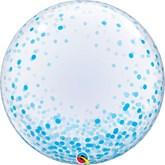 """Blue Confetti Printed 24"""" Deco Bubble"""