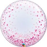 """Pink Confetti Printed 24"""" Deco Bubble"""