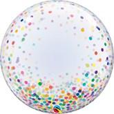 """Colourful Printed Confetti 24"""" Deco Bubble"""