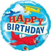 "Happy Birthday Airplanes 18"" Foil Balloon"