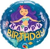 "Happy Birthday Mermaid 18"" Foil Balloon"
