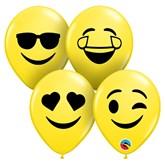 """Smiley Faces 5"""" Latex Balloons 100pk"""