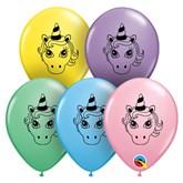 "Unicorn Head 5"" Latex Balloons 100pk"
