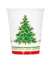 Classic Christmas Tree 9oz Paper Cups