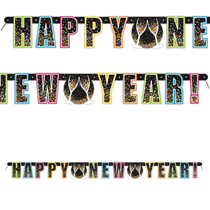 Happy New Year Confetti Banner