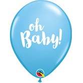 Pale Blue Oh Baby Latex Balloons 25pk