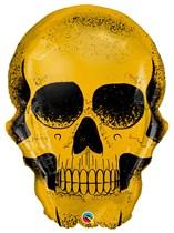 Halloween giant golden skull foil balloon