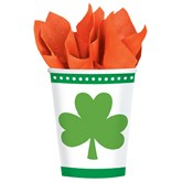 St. Patrick's Day Shamrock Paper Cups 8pk