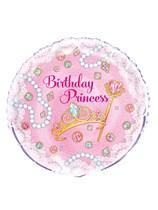 "Pink Birthday Princess 18"" Foil Balloon"
