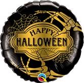 """Halloween Golden Skeleton 18"""" Foil Balloon"""